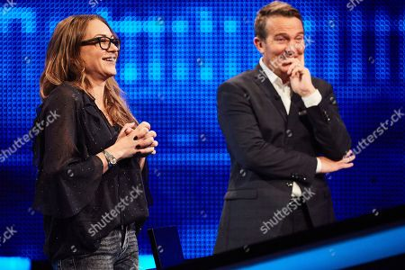Rita Simons and host Bradley Walsh facing The Chaser