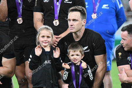 Ben Smith of New Zealand with medal during a medal ceremony after the 2019 Rugby World Cup Bronze Final match between New Zealand and Wales at the Tokyo Stadium in Tokyo, Japan.