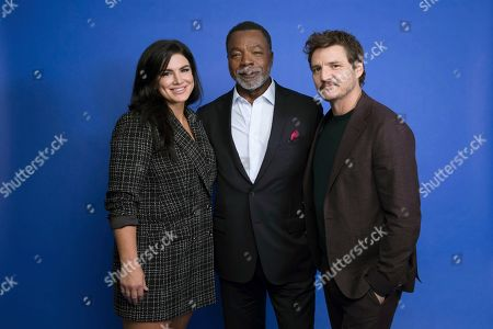 "Gina Carano, Carl Weathers, Pedro Pascal. This photo shows, from left, Gina Carano, Carl Weathers and Pedro Pascal at the Disney Plus launch event promoting ""The Mandalorian"" at the London West Hollywood hotel in West Hollywood, Calif. The ambitious eight episode show with the budget of a feature film is one of the marquee offerings of the Walt Disney Co.'s new streaming service, Disney Plus, which launches Nov. 12"