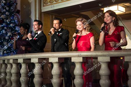 Brenda Edwards (Martha Watson), Dan Burton (Phil Davis), Danny Mac (Bob Wallace), Clare Halse (Judy Haynes) and Danielle Hope (Betty Haynes)