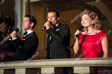 Dan Burton (Phil Davis), Danny Mac (Bob Wallace) and Clare Halse (Judy Haynes)