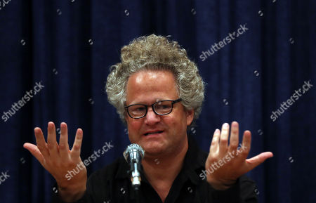 Germany filmmaker Florian Henckel von Donnersmarck attends a press conference at the Farhang Cinema in Shiraz, southern Iran, 01 November 2019. Donnersmarck is in Shiraz for the German Culture Week.