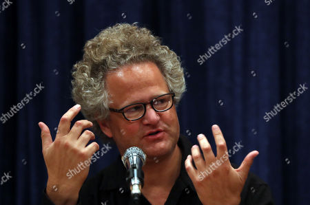 Stock Photo of Germany filmmaker Florian Henckel von Donnersmarck attends a press conference at the Farhang Cinema in Shiraz, southern Iran, 01 November 2019. Donnersmarck is in Shiraz for the German Culture Week.