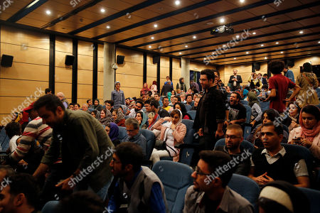 Stock Picture of Attendees at a press conference of Germany filmmaker Florian Henckel von Donnersmarck (unseen) at the Farhang Cinema in Shiraz, southern Iran, 01 November 2019. Donnersmarck is in Shiraz for the German Culture Week.