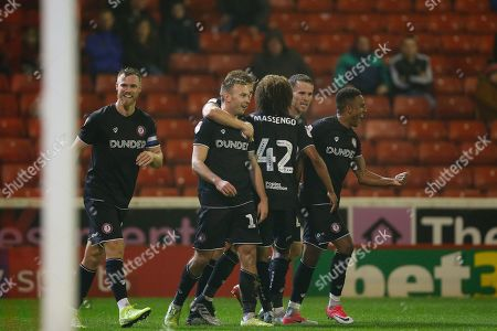 Andreas Weimann of Bristol City Celebrates scoring a goal to make it 2-0 during the EFL Sky Bet Championship match between Barnsley and Bristol City at Oakwell, Barnsley