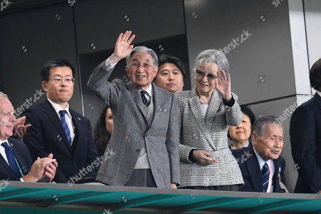 Japan's Former Emperor Akihito and Former Empress Michiko