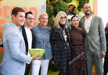 Adam Devine, Jared Stern, Ellen DeGeneres, Diane Keaton, Ilana Glazer and Keegan-Michael Key