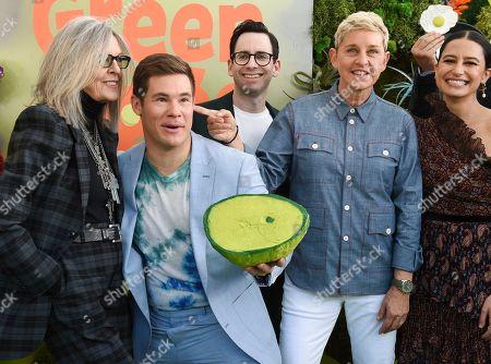 Diane Keaton, Adam Devine, Jared Stern, Ellen DeGeneres and Ilana Glazer