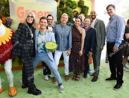 Stock Photo of Diane Keaton, Adam Devine, Jared Stern, Ellen DeGeneres, Ilana Glazer, Ted Sarandos, Jeff Kleeman, Keegan-Michael Key and Mike Karz
