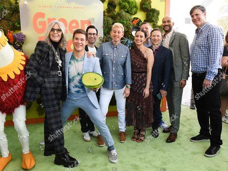 Diane Keaton, Adam Devine, Jared Stern, Ellen DeGeneres, Ilana Glazer, Ted Sarandos, Jeff Kleeman, Keegan-Michael Key and Mike Karz