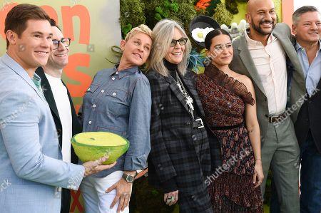 Adam Devine, Jared Stern, Ellen DeGeneres, Diane Keaton, Ilana Glazer, Keegan-Michael Key and Ted Sarandos