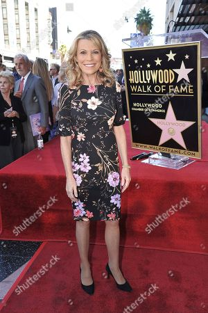 Vanna White attends a ceremony honoring Harry Friedman with a star on the Hollywood Walk of Fame, in Los Angeles
