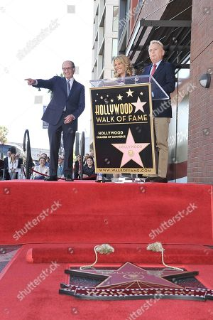 Harry Friedman, Vanna White, Pat Sajak. Harry Friedman, from left, Vanna White and Pat Sajak attend at a ceremony honoring Harry with a star on the Hollywood Walk of Fame, in Los Angeles