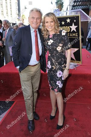 Pat Sajak, Vanna White. Pat Sajak, left, and Vanna White attend a ceremony honoring Harry Friedman with a star on the Hollywood Walk of Fame, in Los Angeles
