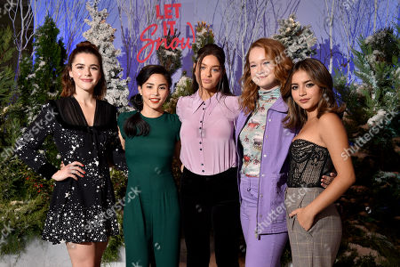 Editorial image of Netflix's 'Let it Snow' film Photocall, Four Seasons Hotel, Los Angeles, USA  - 01 Nov 2019
