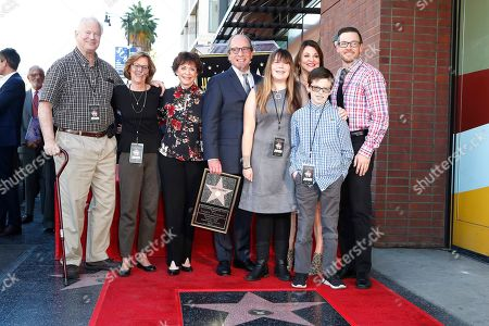 Stock Photo of US game show producer Harry Friedman (C), his wife Judy Friedman (3-L) and family during a ceremony honoring him with a star on the Hollywood Walk of Fame, in Los Angeles, California, USA, 01 November 2019. Friedman received the 2680th star on the Hollywood Walk of Fame, dedicated in the category of Television.