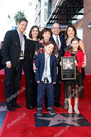 US game show producer Harry Friedman (3-R), his wife Judy Friedman (C) and family during a ceremony honoring him with a star on the Hollywood Walk of Fame, in Los Angeles, California, USA, 01 November 2019. Friedman received the 2680th star on the Hollywood Walk of Fame, dedicated in the category of Television.