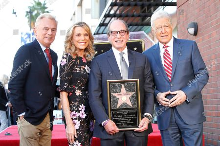 US game show hosts Pat Sajak, Vanna White, Harry Friedman and Alex Trebek attend a ceremony honoring US game show producer Harry Friedman with a star on the Hollywood Walk of Fame, in Los Angeles, California, USA, 01 November 2019. Friedman received the 2680th star on the Hollywood Walk of Fame, dedicated in the category of Television.