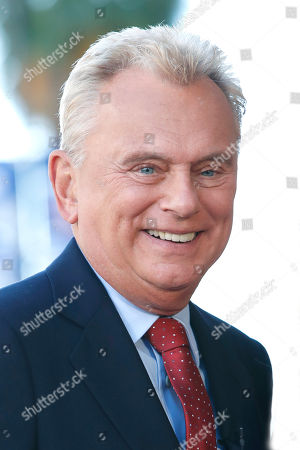 US game show host Pat Sajak attends a ceremony honoring US game show producer Harry Friedman (unseen) with a star on the Hollywood Walk of Fame, in Los Angeles, California, USA, 01 November 2019. Friedman received the 2680th star on the Hollywood Walk of Fame, dedicated in the category of Television.