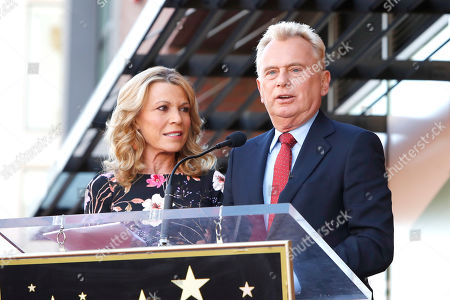 US game show hosts Vanna White (L) and Pat Sajak attend a ceremony honoring US game show producer Harry Friedman (unseen) with a star on the Hollywood Walk of Fame, in Los Angeles, California, USA, 01 November 2019. Friedman received the 2680th star on the Hollywood Walk of Fame, dedicated in the category of Television.