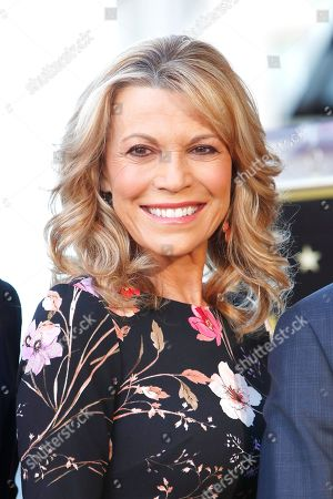 Stock Photo of US game show host Vanna White attends a ceremony honoring US game show producer Harry Friedman (unseen) with a star on the Hollywood Walk of Fame, in Los Angeles, California, USA, 01 November 2019. Friedman received the 2680th star on the Hollywood Walk of Fame, dedicated in the category of Television.