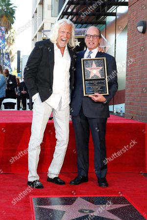 US game show producer Harry Friedman (R) and Jay Reddick (L) during a ceremony honoring Friedman with a star on the Hollywood Walk of Fame, in Los Angeles, California, USA, 01 November 2019. Friedman received the 2680th star on the Hollywood Walk of Fame, dedicated in the category of Television.