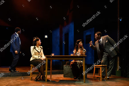 Sope Dirisu (Biff), Nenda Neurer (Letta), Carole Stennett (Miss Forsythe) and Natey Jones (Happy)