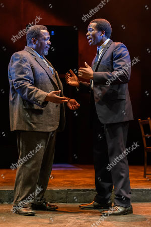 Wendell Pierce (Willy Loman) and Sope Dirisu (Biff)