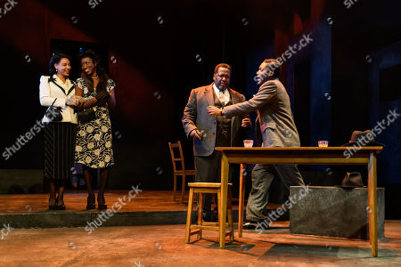 Nenda Neurer (Letta), Carole Stennett (Miss Forsythe), Wendell Pierce (Willy Loman) and Natey Jones (Happy)