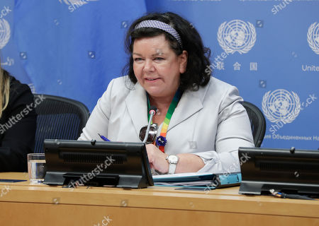 Karen Pierce, Permanent Representative of the UK to the United Nations and President of the Security Council for the month of November, briefs journalists on the Council's programme of work for the month