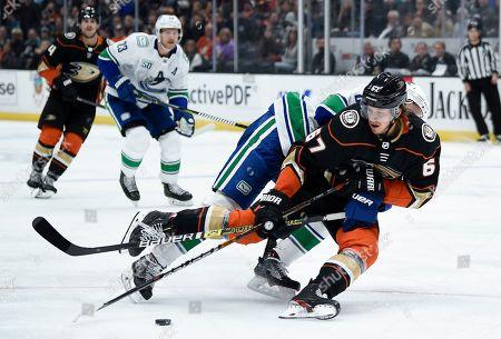 Editorial photo of Canucks Ducks Hockey, Anaheim, USA - 01 Nov 2019