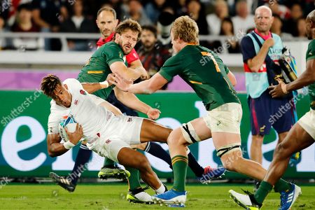 England's Anthony Watson carries the ball during the Rugby World Cup final at International Yokohama Stadium between England and South Africa in Yokohama, Japan
