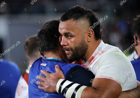England's Billy Vunipola reacts at the end of the match after South Africa defeated England to win the Rugby World Cup final at International Yokohama Stadium in Yokohama, Japan