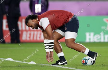England vs South Africa. England's Billy Vunipola during the warm up