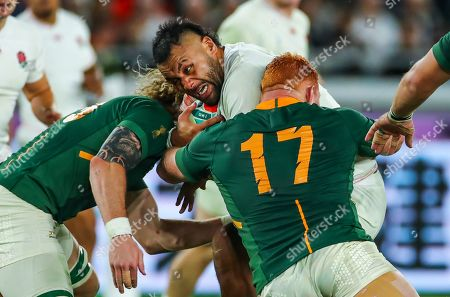 Stock Photo of England vs South Africa. South Africa's Steven Kitshoff with England's Billy Vunipola