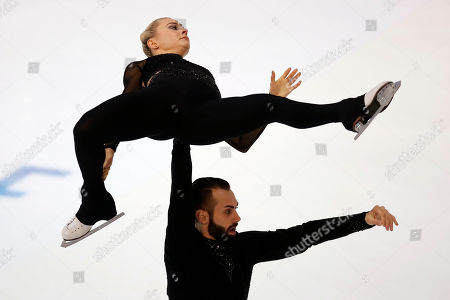 US' Ashley Cain-Gribble and Timothy Leduc compete in the Pairs Free Skating during the ISU figure skating France's Trophy, in Grenoble, French Alps, France