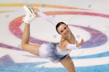 US' Maria Bell competes in the Ladies Free Skating during the ISU figure skating France's Trophy, in Grenoble, French Alps, France