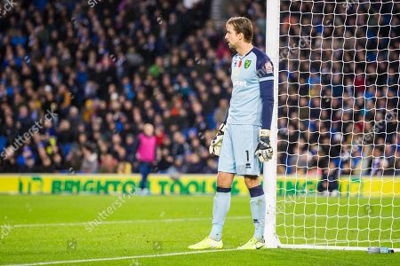 Tim Krul (GK) (Norwich) during the Premier League match between Brighton and Hove Albion and Norwich City at the American Express Community Stadium, Brighton and Hove