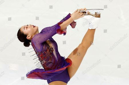 Wakaba Higuchi of Japan performs during the Ladies Free Skating at the Internationaux de France ISU Figure Skating Grand Prix in Grenoble, France, 02 November 2019.