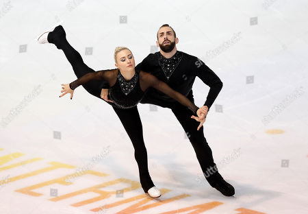 Ashley Cain-Gribble (L) and Timothy Leduc of the USA perform in the Pairs Free Skating at the Internationaux de France ISU Figure Skating Grand Prix in Grenoble, France, 02 November 2019.