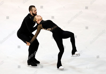 Ashley Cain-Gribble (R) and Timothy Leduc of the USA perform in the Pairs Free Skating at the Internationaux de France ISU Figure Skating Grand Prix in Grenoble, France, 02 November 2019.