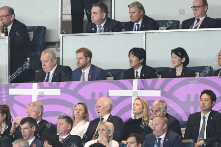 Stock Image of Prince Harry, Japan's Crown Prince Akishino and Japan's Crown Princess Akishino