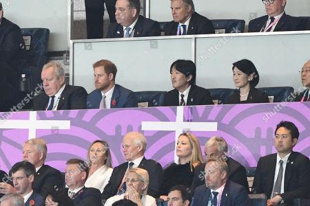 Prince Harry, Japan's Crown Prince Akishino and Japan's Crown Princess Akishino