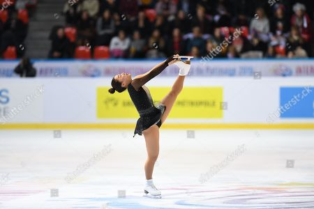 Wakaba Higuchi, from Japan, during Short Program, at ISU Senior Grand Prix of Figure Skating at Patinoire Polesud.