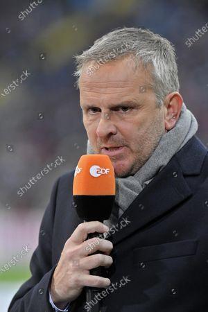 02.11.2019, Football 1. Bundesliga 2019/2020, 10. match day, Eintracht Frankfurt - FC Bayern Muenchen, in Commerzbank-Arena Frankfurt. Dietmar Hamann,ZDF Mikrofon.