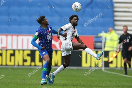 Nathan Dyer of Swansea and Dujon Sterling of Wigan