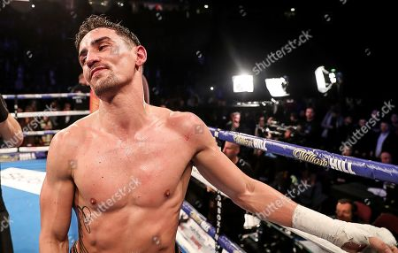 Anthony Crolla vs Frank Urquiaga. Anthony Crolla celebrates his victory