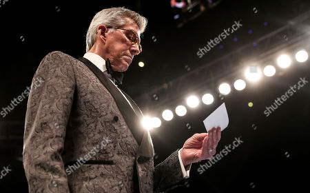 WBO World Super-Lightweight Championship. Katie Taylor vs Christina Linardatou. Ring announcer Michael Buffer
