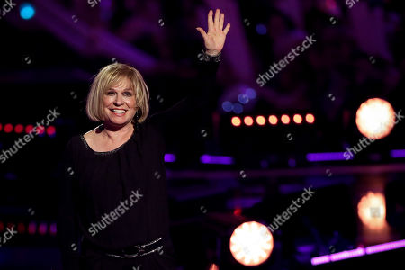 Mary Roos reacts during the TV show 'Schlagerbooom 2019 - Alles funkelt! Alles glitzert!' (lit.: Hit Booom 2019 - everything sparkles, everything glitters) at the Westfalenhalle in Dortmund, Germany, 02 November 2019.