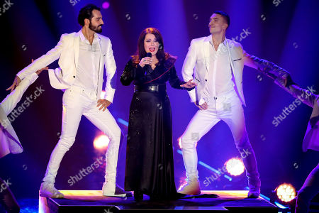 Marianne Rosenberg (C) performs during the TV show 'Schlagerbooom 2019 - Alles funkelt! Alles glitzert!' (lit.: Hit Booom 2019 - everything sparkles, everything glitters) at the Westfalenhalle in Dortmund, Germany, 02 November 2019.